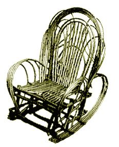 Bent Willow Rocking Chair by Willow Furniture