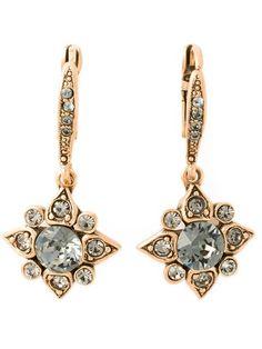 OSCAR DE LA RENTA star crystal earrings. #oscardelarenta #earrings