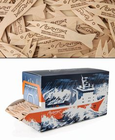 Ocean Trawlers Fish Fork Dispenser. The goal was to create unique packaging to distribute custom fish forks for fish & chip shops who supply Atlantika fish. Very clever PD