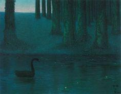 William Degouve de Nuncques  Black Swan (Il cigno nero), 1893