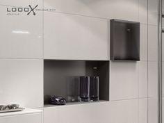 Looox colour box, inbouw nis voor douche, 15x30 zonder rand, soft grijs, 110 euro per stuk