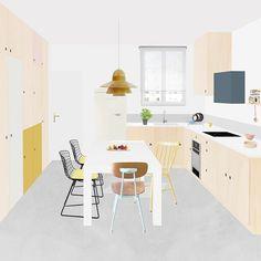 Après la boutique du Klin d'œil, on s'attaque à un nouveau chantier d'archi ! Au programme, la rénovation complète d'un appartement de 85 m2 dans le 11ème arrondissement  Et voici un aperçu de la future cuisine  #hejustudio #archi #newproject #renovation #soon