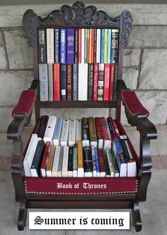 Summer Reading, Games of Thrones, Books, Library, Summer is coming