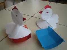 Paasmandje - witte kip