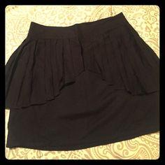 Retro Pleated Peplum Black Skirt Retro Pleated Peplum Black Skirt. Size 12. Side zipper closure. Waist band. Purchased from Urban Outfitters silence + noise Skirts Mini