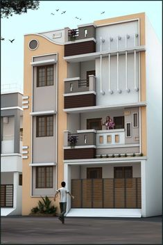 House Outside Design, House Front Design, Small House Design, 3 Storey House Design, Duplex House Design, Apartment Design, Apartment Living, Living Room, Duplex Apartment