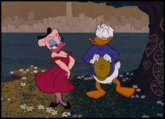 """Donald Duck and Daisy Kissing 