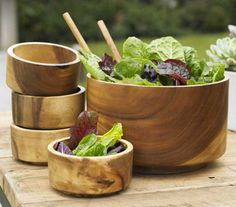Acacia wood dinnerware Forget plastic and paper plates for your next backyard picnic this dinnerware & Acacia Bowls from Crate and Barrel | In the Kitchen | Pinterest ...