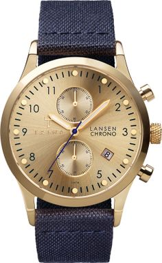 Gold Lansen Chrono Navy Classic Ref. number  LCST103CL06