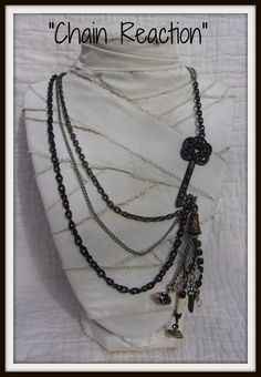 Chain Reaction..Chains.Keys.Charms..Gypsy Shabby  Chic by pugpink