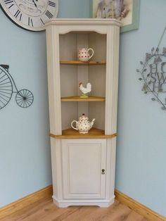 Beautiful Painted Shabby Chic Pine Corner Unit Storage Shelves Cabinet Dresser in Home, Furniture & DIY, Furniture, Cabinets & Cupboards | eBay #shabbychiccabinets #shabbychicdressersdiy #paintingfurniture