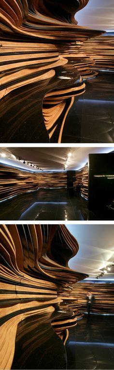 """""""eCosentino"""" - frères Campana Plus Architecture Cool, Organic Architecture, Classification Des Arts, Architecture Organique, Wall Design, House Design, Parametric Design, Retail Interior, Commercial Design"""