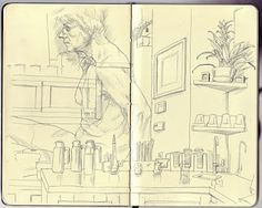 Sketchbook Pages by Chris Whetzel