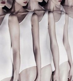 Dancers in a perfect line