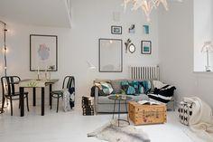 Ingeniosa distribución en 38 m² - Blog decoración estilo nórdico - delikatissen