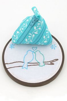 Embroidery Hoop and Zip Pouch