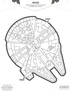 Star Wars free printables ~ including coloring pages, mazes, and games. From Any Tots