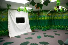 Cool way to decorate a multimedia room for Shipwrecked VBS. Explore more decoration ideas at Concordia Supply!