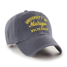 huge discount 41669 dafdf Michigan Wolverines 47 Brand U of M Vintage Navy Clean Up Adjustable Hat.  Detroit Game Gear