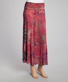 Mauve Tie-Dye Maxi Skirt | Daily deals for moms, babies and kids