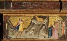 Bicci di Lorenzo - Polittico di Stia: dettaglio della predella - 1414 - Pieve di Santa Maria Assunta, Stia in Casentino.
