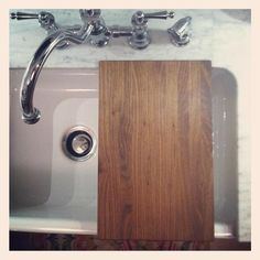 Part Of My To Do List This Year Was A Custom Cutting Board That Would Fit  Over Beccau0027s Beloved Farmhouse Sink. We Chose Walnut To Match .