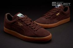 Puma Suede Classic Eco NM - Mens Shoes - chocolate brown-gold foil-gum