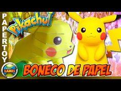 Pikachu Papertoy Boneco de Papel