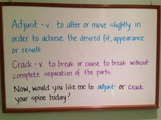 Adjust vs crack