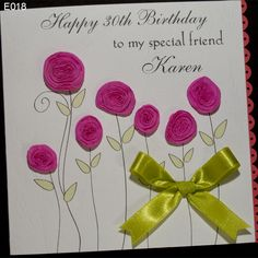 Sweets handmade birthday card. Was invented with the advent of spring. The gardens flowers begin to bloom, with us on the cards as well. http://www.handmadecards24.co.uk/product/birthday_flowers_handmade_card