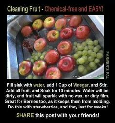 How to clean produce w/o chemicals