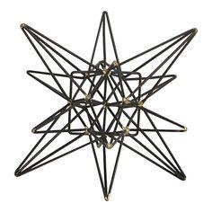 Metal Cutout Star Figurine 6-in