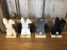 Excited to share this item from my shop: Wooden Easter bunny, Spring rabbit decor, Easter decor, Easter rabbit with tail, Nursery Decor Oster Dekor, Diy Osterschmuck, Diy Crafts, Easter Table Decorations, Spring Decorations, Diy Ostern, Easter Bunny, Happy Easter, Bunny Bunny
