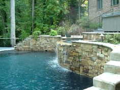 Pool on Steep Slope - traditional - pool - other metro - Arrington Landscape Architecture