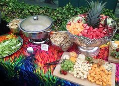 Check out this fabulous Buffet prepared by ALACARTE CATERING for Weird AL and 100 of his guests at an After-concert Party at Chastain on June 20th!  Even though he is a Vegan, there was plenty of a variety for all!  #atlanta #catering #alacartecatering #food #wedding #atlanta wedding #atlantacatering #weddingideas #foodideas #entertaining #cateringdisplay #cateringideas