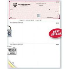 3 Part Lined High Security Multipurpose Laser Voucher Check