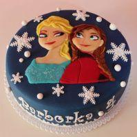 Dětský dort Frozen Anna a Elsa 2D | Dětské dorty fotogalerie | www.restaurace-bobovka.cz| www.futurama-caffe.cz