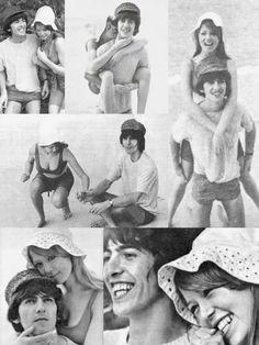 #wallpaper #George and Pattie #honeymoon #George Harrison #Pattie Boyd