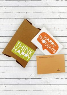Think Happy Cards Gift via House Of Wonderland. Click on the image to see more!