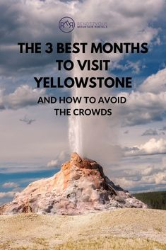 """The best months to visit Yellowstone are April, September, and October. These """"off season"""" months provide more chances to catch a glimpse of the local wildlife and enjoy thinner crowds. Bears emerge from hibernation between March and April, migrating birds arrive just before May, and the elk rut begins mid-September. If you're looking to plan a trip to the park, here are the best months to visit and tips to avoid the crowds during your trip. Visit Yellowstone, Yellowstone Vacation, Ski Vacation, Yellowstone National Park, Vacation Rentals, National Parks, Jackson Hole Skiing, Seasons Months"""