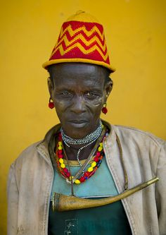 Dassanech tribe man with hat, Omorate, Omo valley, Ethiopia by Eric Lafforgue, via Flickr. The cradle of humanity.