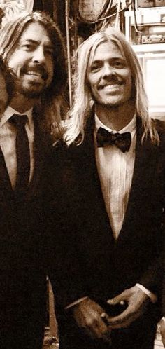 Dave Grohl and Taylor Hawkins.May 20, 2015 at the David Letterman final show.