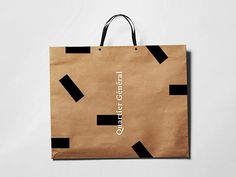 Branding propsoition for Le Quartier Général from Ski Bromont Immobilier.Le quartier general is a public space inspired by Bromont: The nature, the change of seasons, and the community. The space combines several areas including a boutique, a café, a re… Kraft Packaging, Paper Packaging, Bag Packaging, Shopping Bag Design, Paper Shopping Bag, Packaging Design Inspiration, Graphic Design Inspiration, Paper Carrier Bags, Paper Bags