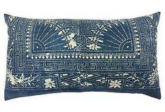 Indigo Batik Pillow