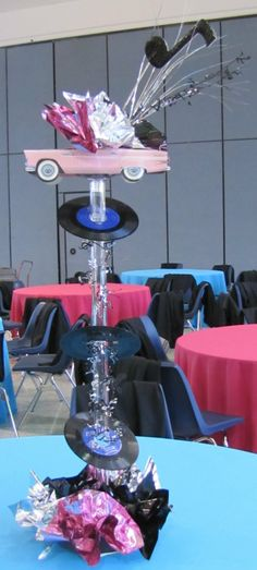 Centerpieces for 50s Party | Party People Celebration Company - Special Event Decor Custom Balloon ...