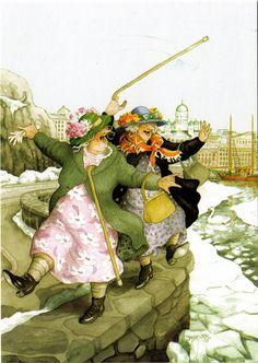 inge look dancing on waters edge by jaybeepostcards, Awesome grannies by Inge Look.