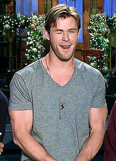 These finger guns? They might look harmless, but because they are being used by this divine spirit they are actually making your heart ache with lust and love. | 18 Pieces Of Evidence That Prove Chris Hemsworth Actually Is A God