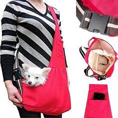 Perro Rojo Tela de Oxford Sling portador Bolso Bolsa de un solo hombro para Mascota Gato S/M/L   Productos para mascotas, Perros, Cargadores y bolsos de mano   eBay!