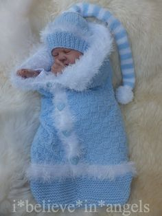 Knitting Pattern Ksb *Bundles Of Jo - Diy Crafts - Knit & Share Baby Cocoon Pattern, Crochet Baby Dress Pattern, Baby Dress Patterns, Baby Knitting Patterns, Knitted Baby Clothes, Crochet Doll Clothes, Crochet Baby Mittens, Diy Crafts Knitting, Kit Bebe