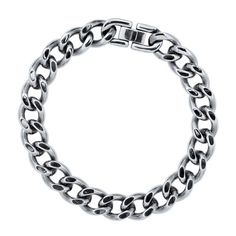 """Stainless Steel Curb Chain Men's Chain Bracelet 8.5"""" from Berricle - Price: $24.99"""
